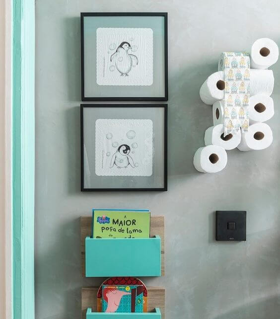 Quadros para banheiro infantil