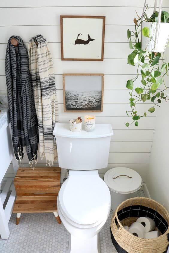 Mini quadros para banheiro