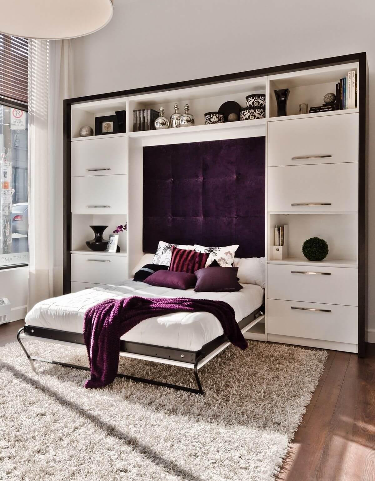 Quarto com cama retrátil super moderno