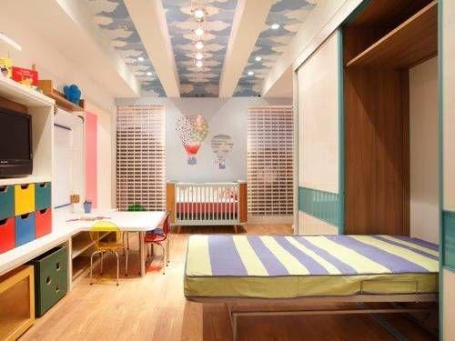 Quarto infantil com cama retrátil