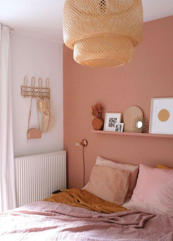 Revestimento para quarto cor de rosa