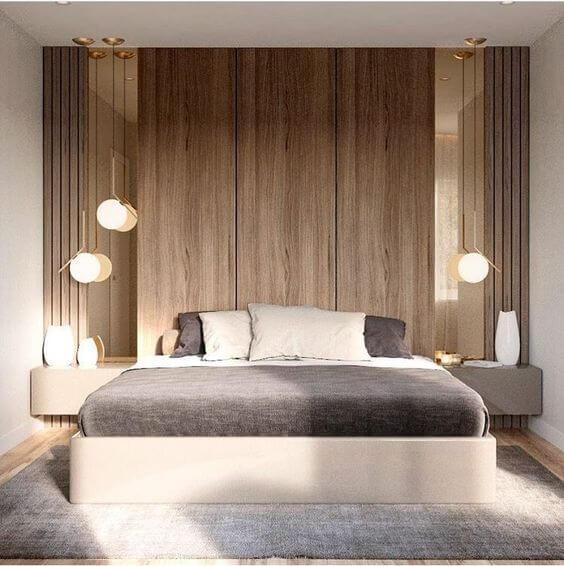Revestimento para quarto minimalista