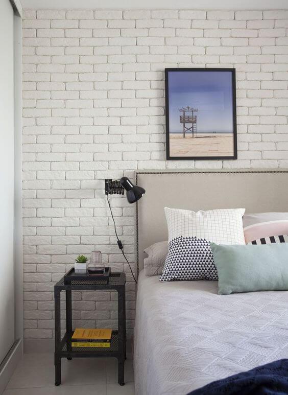 Revestimento para quarto de tijolinho
