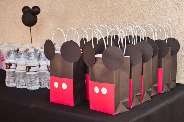 Saquinho surpresa do mickey para festa infantil