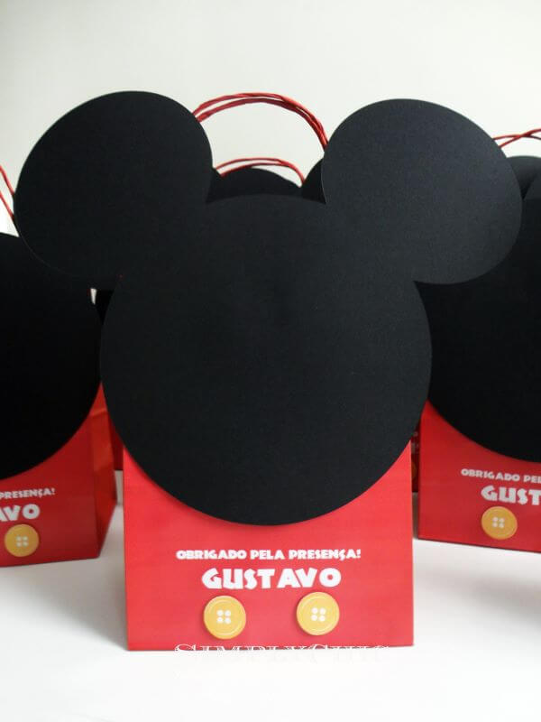 Saquinho surpresa mickey decorado