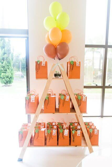 Saquinho surpresa na festa de aniversário