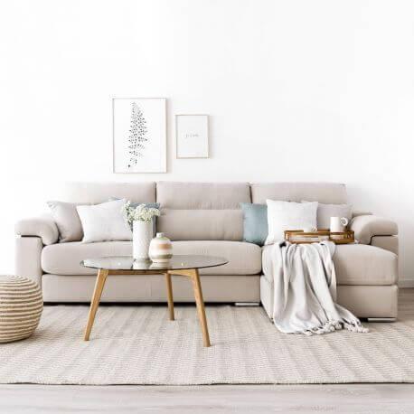 Use o sofá bege para ter decorações lindas