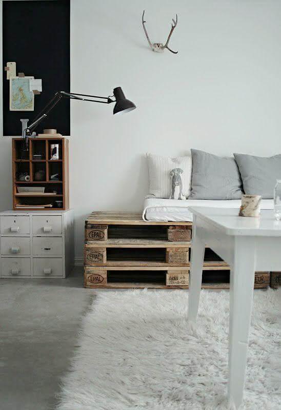Sofá de paletes simples