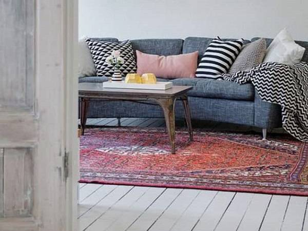 tapete persa sala mesa de centro