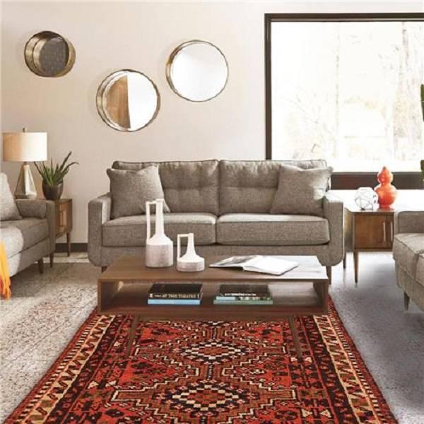 tapete persa vermelho sala
