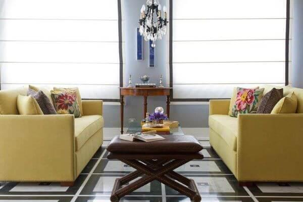 Persianas são lindas para salas modernas