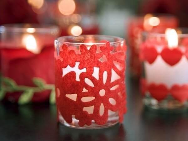 As velas deixam a decoração dia dos namorados quarto mais íntimo