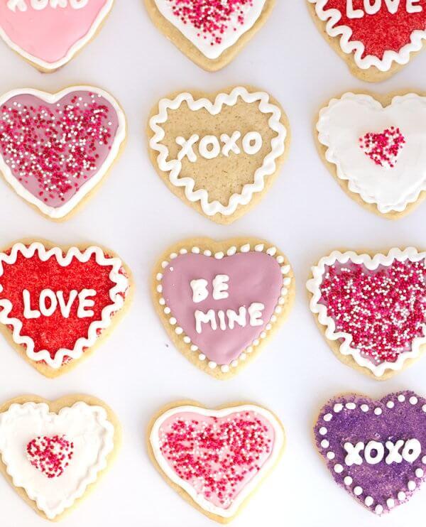 Biscoitos decorados e personalizados para o seu amor