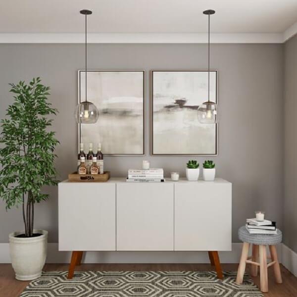 Buffet aparador branco com portas