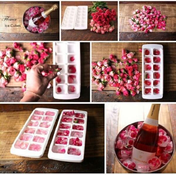 Como decorar o quarto para o dia dos namorados como cubinhos de gelo florais