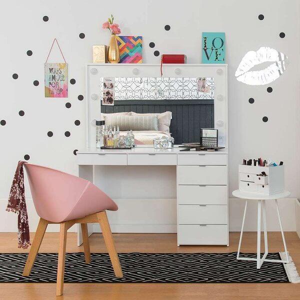 Decore o quarto das crianças com uma linda penteadeira infantil camarim