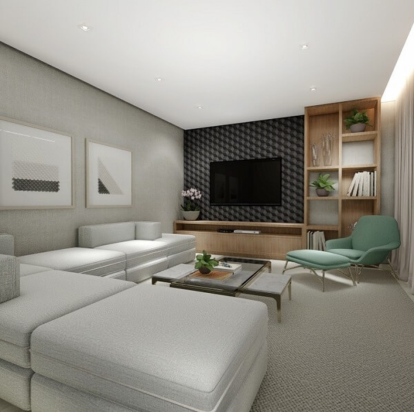 Distribua o sofá modular pelo ambiente
