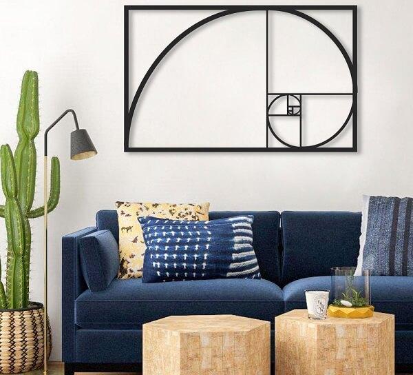 Escultura de parede abstrata para decoração minimalista