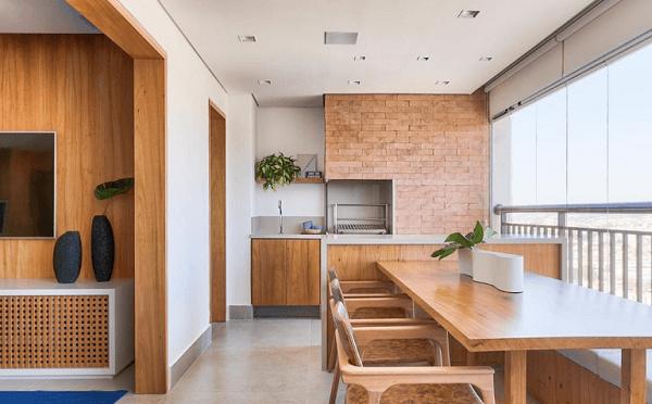 Invista em uma churrasqueira para apartamento. Fonte: Doob Arquitetura