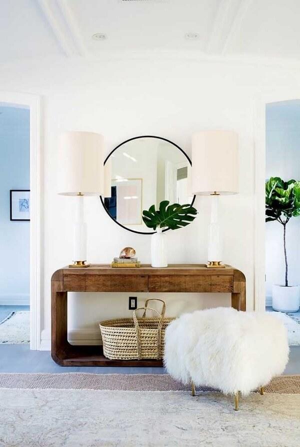 Modelo de aparador de madeira