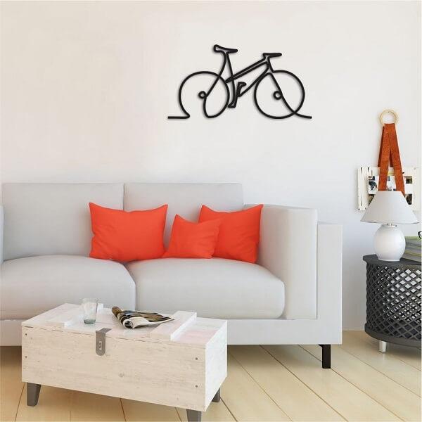 Modelo de escultura de parede discreta para decoração minimalista