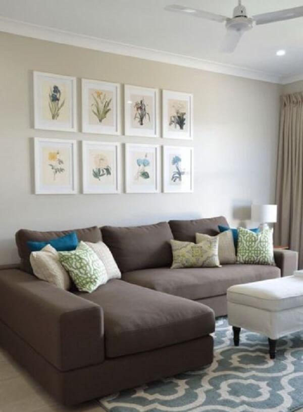 Modelo de sofá modular marrom