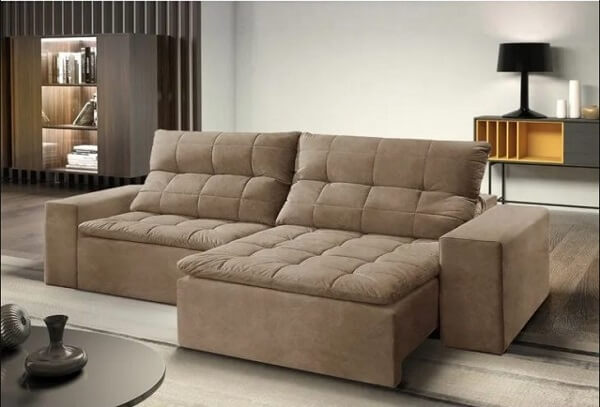 Modelo de sofá modular retrátil