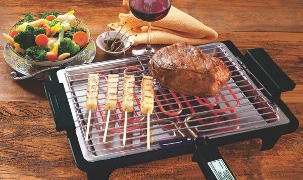 Modelo de churrasqueira portátil para apartamento