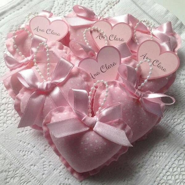 O sachê perfumado em formato de coração é um dos modelos mais procurados no mercado