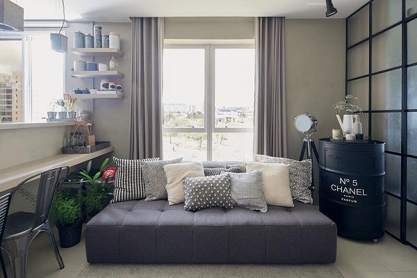 O sofá cama modular é extremamente versátil
