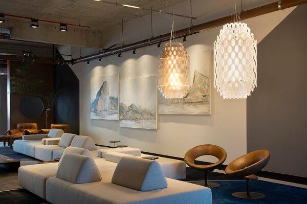 O sofá de módulos se destaca na decoração