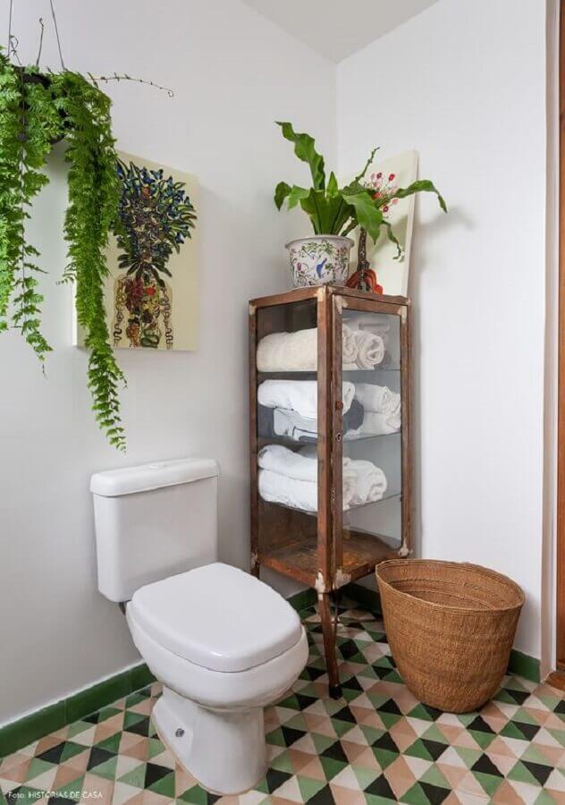 Plantas pendentes para decoração de banheiro simples Foto Pinterest