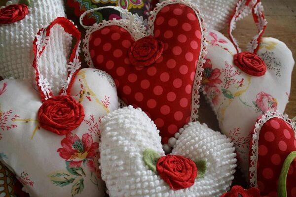 Scented heart-shaped sachet