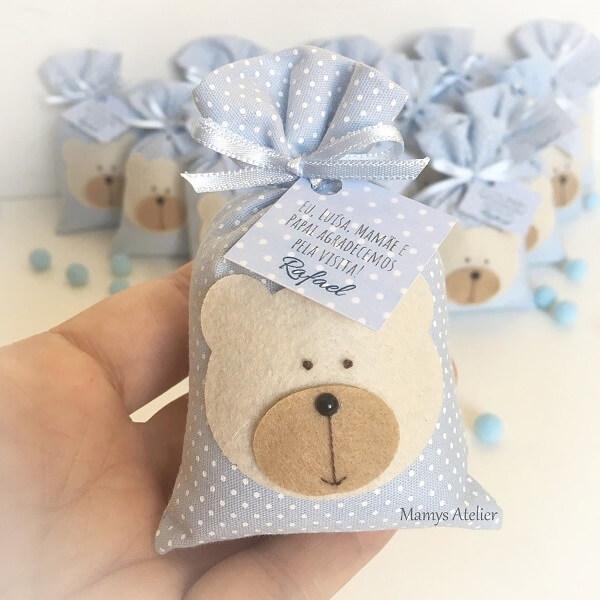 Sachê perfumado em formato de urso