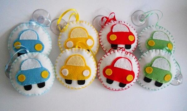 Sachê perfumado para carros com design divertido e colorido
