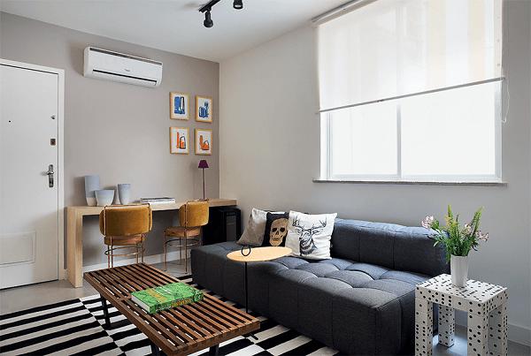 Sofá cama modular é multifuncional e acomoda de forma confortável as visitas