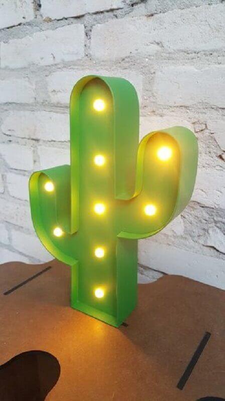 abajur de led em formato de cacto Foto Pinterest
