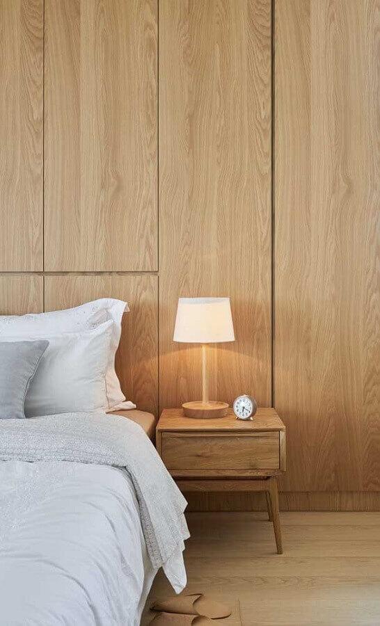 abajur pequeno para quarto decorado todo em madeira Foto Architecture Art Designs