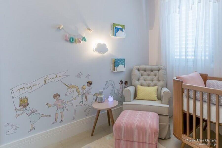 adesivos de parede para decoração de quarto unicórnio de bebê Foto Elisa Garrafa