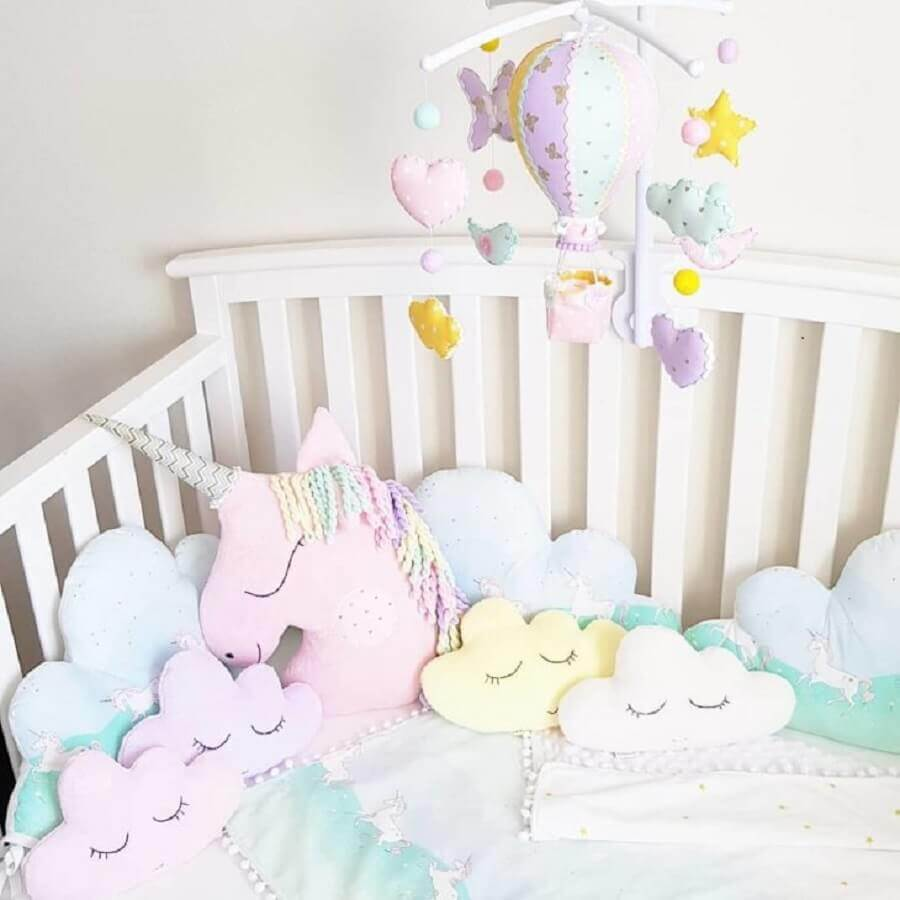 almofadas decorativas para quarto unicórnio de bebê Foto Little Olatide