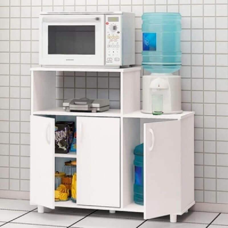 armário multiuso baixo para cozinha com várias divisórias Foto Pinterest