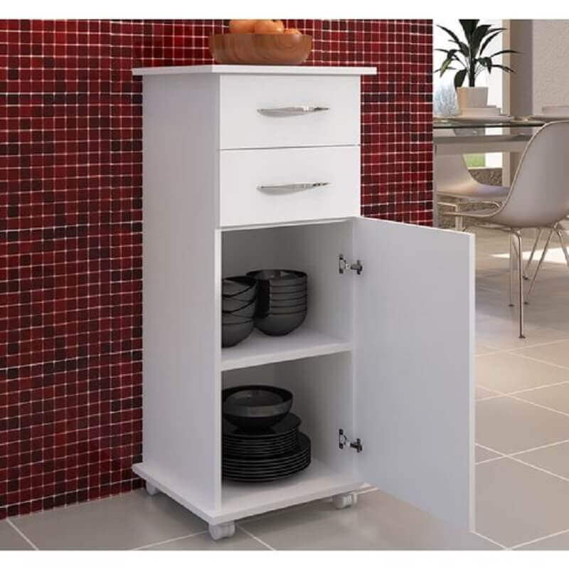 armário multiuso com gavetas e 1 porta