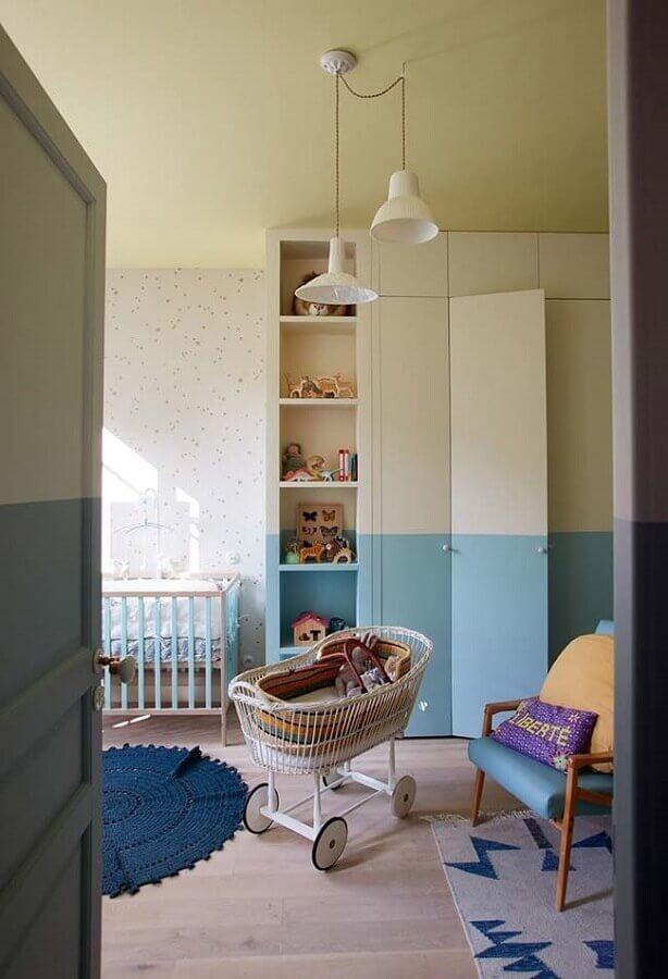 armário para quarto de bebê planejado simples Foto Pinterest