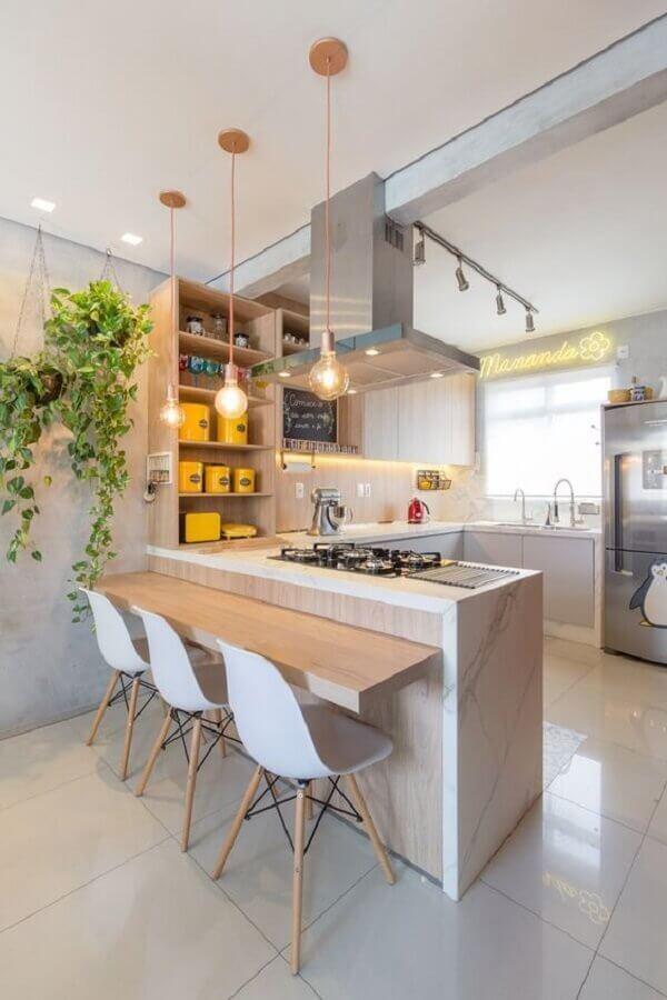 bancada de cozinha completa com cooktop Foto limaonagua