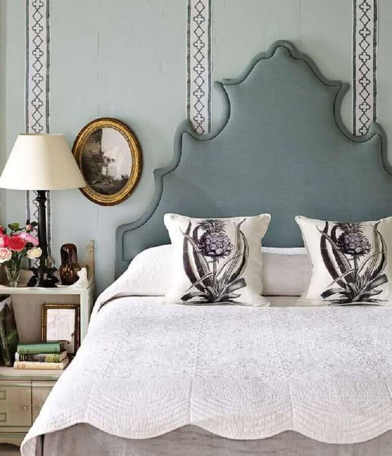 cabeceira cama casal com design clássico cinza Foto All Decor Boutique