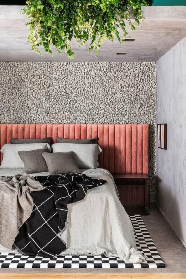 cabeceira casal rosa para quarto moderno Foto Casa de Valentina