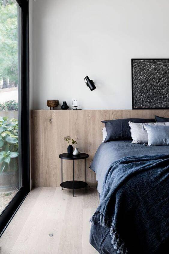 Cama box casal no quarto moderno