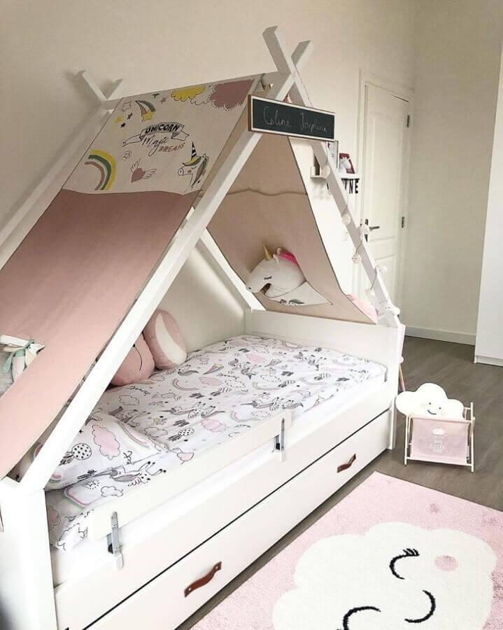 cama casinha para decoração de quarto de unicórnio Foto Interior by Melissa