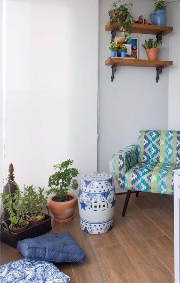 Casa com porcelanato amadeirado
