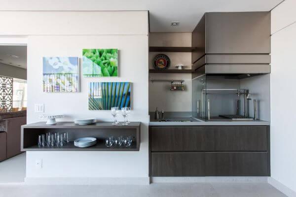 Churrasqueira na varanda moderna